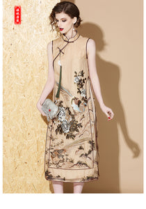 Silk Brown Qipao Cheongsam
