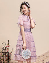 Load image into Gallery viewer, Purple Thin Qipao Cheongsam
