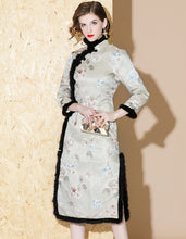 Load image into Gallery viewer, Winter Elegance Qipao Cheongsam
