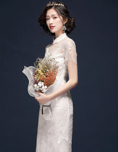 Load image into Gallery viewer, White Exquisite Qipao Cheongsam