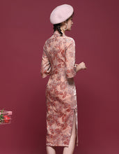 Load image into Gallery viewer, Pink Anthurium Qipao Cheongsam