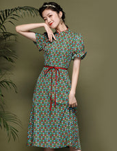 Load image into Gallery viewer, Green Neat Qipao Cheongsam