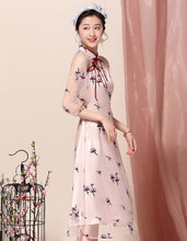 Load image into Gallery viewer, Retro Pink Qipao Cheongsam