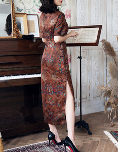 Fragrant Cloud Yarn Poetic Qipao Cheongsam