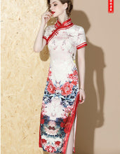 Load image into Gallery viewer, Baby Pink Long Qipao Cheongsam