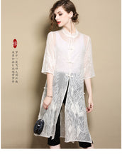 Load image into Gallery viewer, Pure Silk Overcoat Qipao Cheongsam