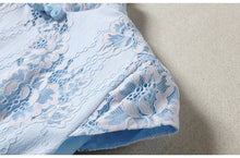 Load image into Gallery viewer, Lace Light Sky Blue Qipao Cheongsam