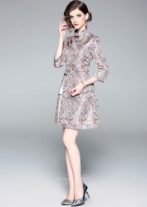Gardenia Light Gray Qipao Cheongsam