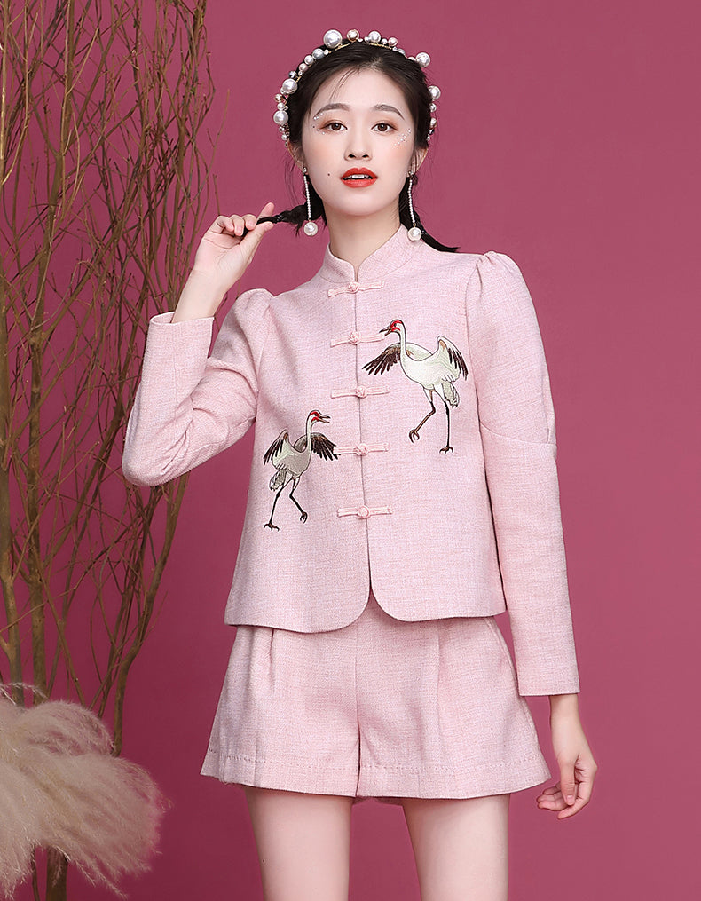 Crocus Two-Piece Qipao Cheongsam