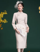 Load image into Gallery viewer, Elegant Jacquard Qipao Cheongsam