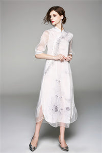 Floral Light Qipao Cheongsam