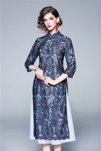 Load image into Gallery viewer, Lace Embroidery Qipao Cheongsam