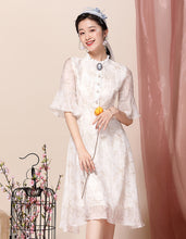 Load image into Gallery viewer, Rice White Qipao Cheongsam