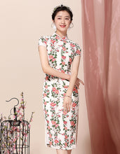 Load image into Gallery viewer, Spring Apricot Qipao Cheongsam