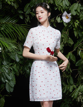 Load image into Gallery viewer, White Proud Qipao Cheongsam