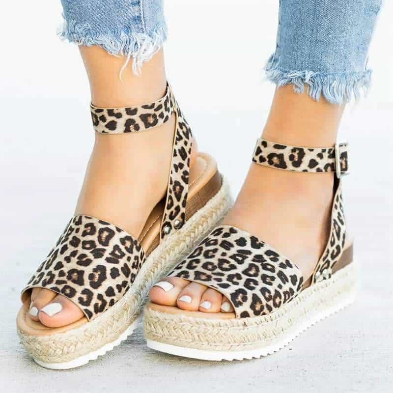 Cleopatra - Beautiful Summer Espandrillos - Leopard / UK:4/US:4.5/EU:35