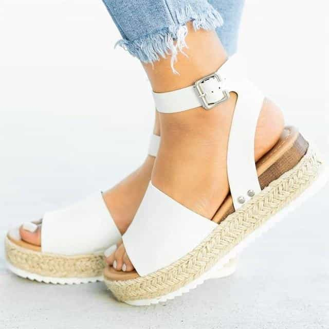 Cleopatra - Beautiful Summer Espandrillos - White / UK:4/US:4.5/EU:35