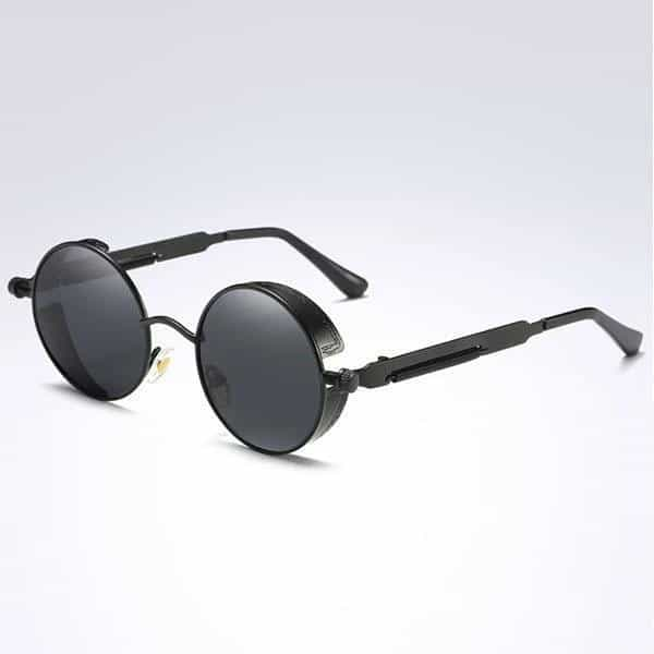 The Steampunk - Cool Retro Sunglasses - Black / Black - Sonnenbrillen