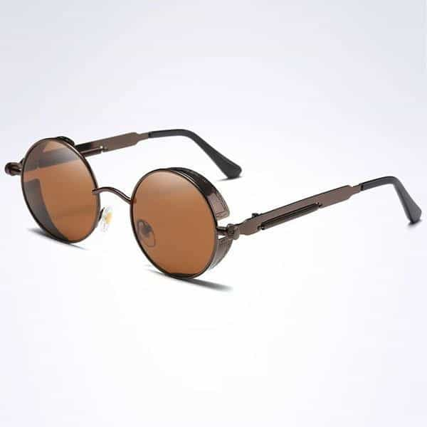 The Steampunk - Cool Retro Sunglasses - Brown / Brown - Sonnenbrillen