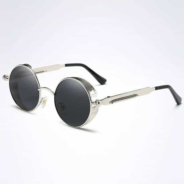 The Steampunk - Cool Retro Sunglasses - Silver / Black - Sonnenbrillen