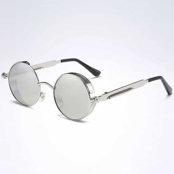 The Steampunk - Cool Retro Sunglasses - Silver / Gray - Sonnenbrillen