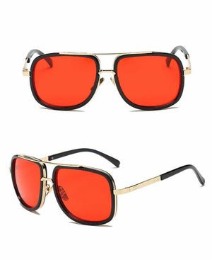 Vintage Guy - High Quality Sunglasses - Red - Sonnenbrillen