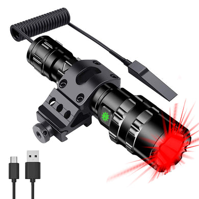 UltraFire UF-1102 Torch USB Charging 5 Mode LED Bright Waterproof Flashligh Set