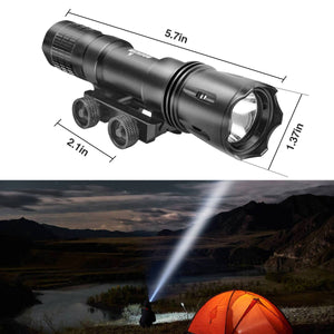UltraFire® Rail Flashlight Outdoor  LED Lighting Glare Tactical Flashlight Spotlight Set