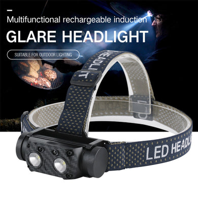 UltraFireUSB Rechargeable Head-Mounted Aluminum Alloy LED Sensor Headlight Kit