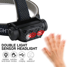 将图片加载到图库查看器,UltraFireUSB Rechargeable Head-Mounted Aluminum Alloy LED Sensor Headlight Kit