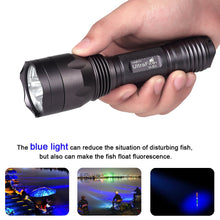 Load image into Gallery viewer, UltraFire H-B3 Blue Light 470nm Hunting Flashlight