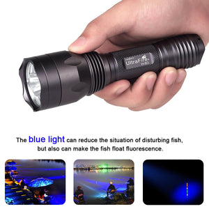 UltraFire H-B3 Blue Light 470nm Hunting Flashlight