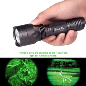 UltraFire H-G3 Green light Hunting Flashlight
