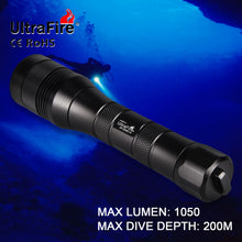 Load image into Gallery viewer, UltraFire UF-DIV01V CREE XM-L2 1050LM LED Diving Flashlight