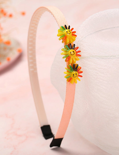 H701 Colorful Flowers Fabric Covered Head Band
