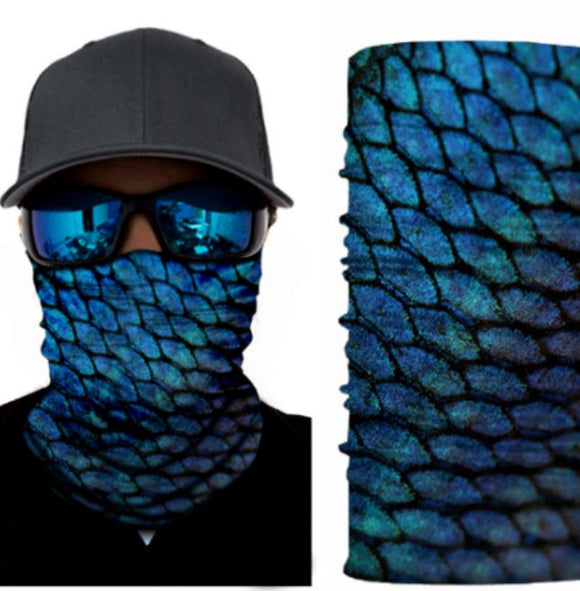 G53 Blue Scale Design Gaiter Mask