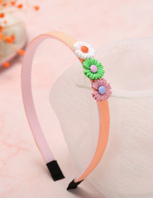 H703 Colorful Daisy Fabric Covered Head Band