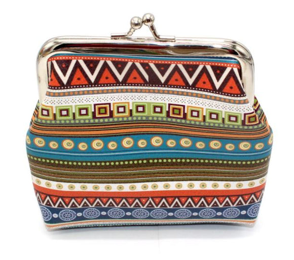 G174 Multi Color Festive Clasp Coin Purse