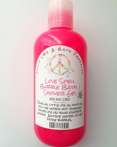 LoveSpell CBD Bubble Bath / Shower Gel 400 MG