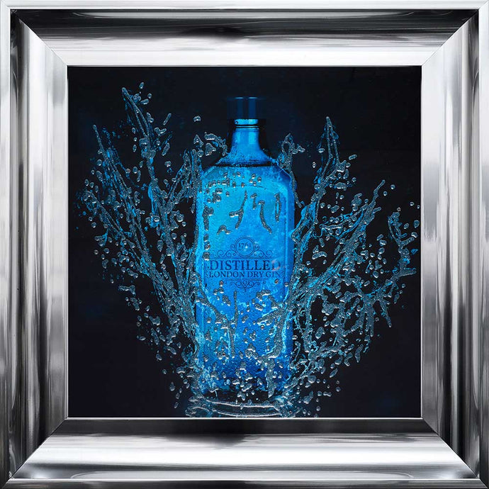 Bottle Gin Framed Art Work