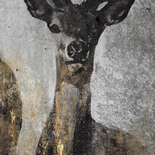 Load image into Gallery viewer, Large Curious Stag Painting on Cement Board with Frame
