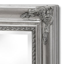 Load image into Gallery viewer, Baroque Slimline Antique Silver Full Length Mirror