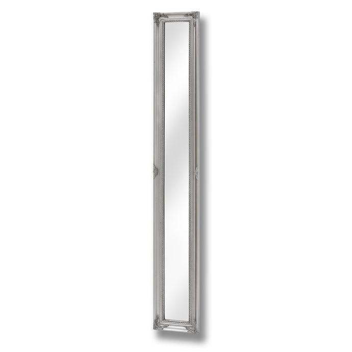 Baroque Slimline Antique Silver Full Length Mirror