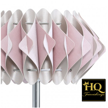 Load image into Gallery viewer, Chrome Metal Table Lamp With A Blush Pink Shade