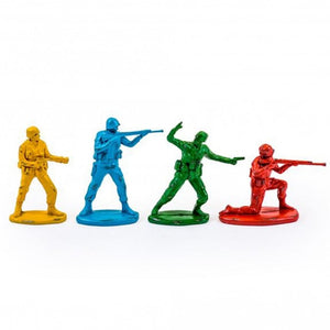 Set of 4 Classic Toy Soldier Coloured Figures