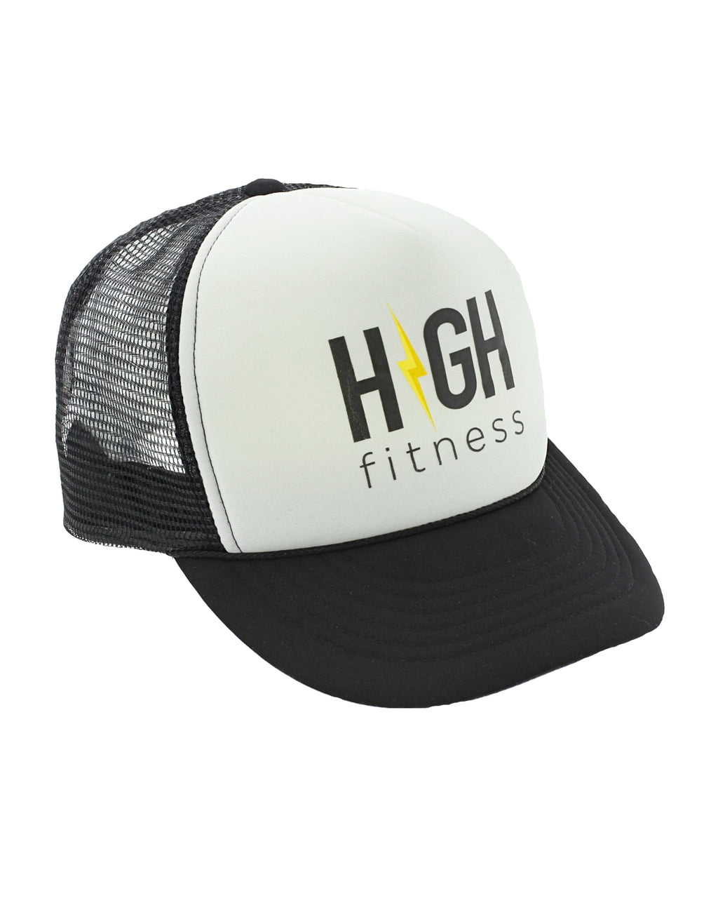 HIGH Fitness Black and White Trucker Hat