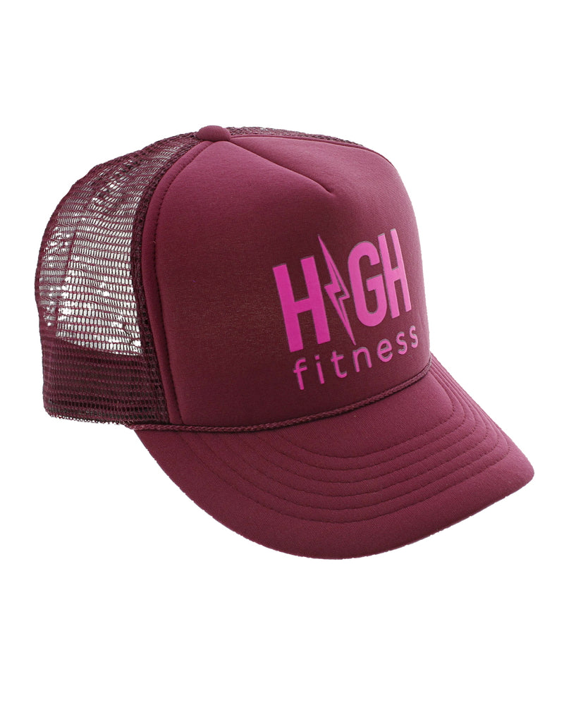 HIGH Fitness Maroon Trucker Hat