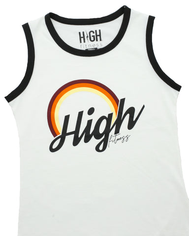 HIGH Fitness - Black Logo - Heather Gray Tank