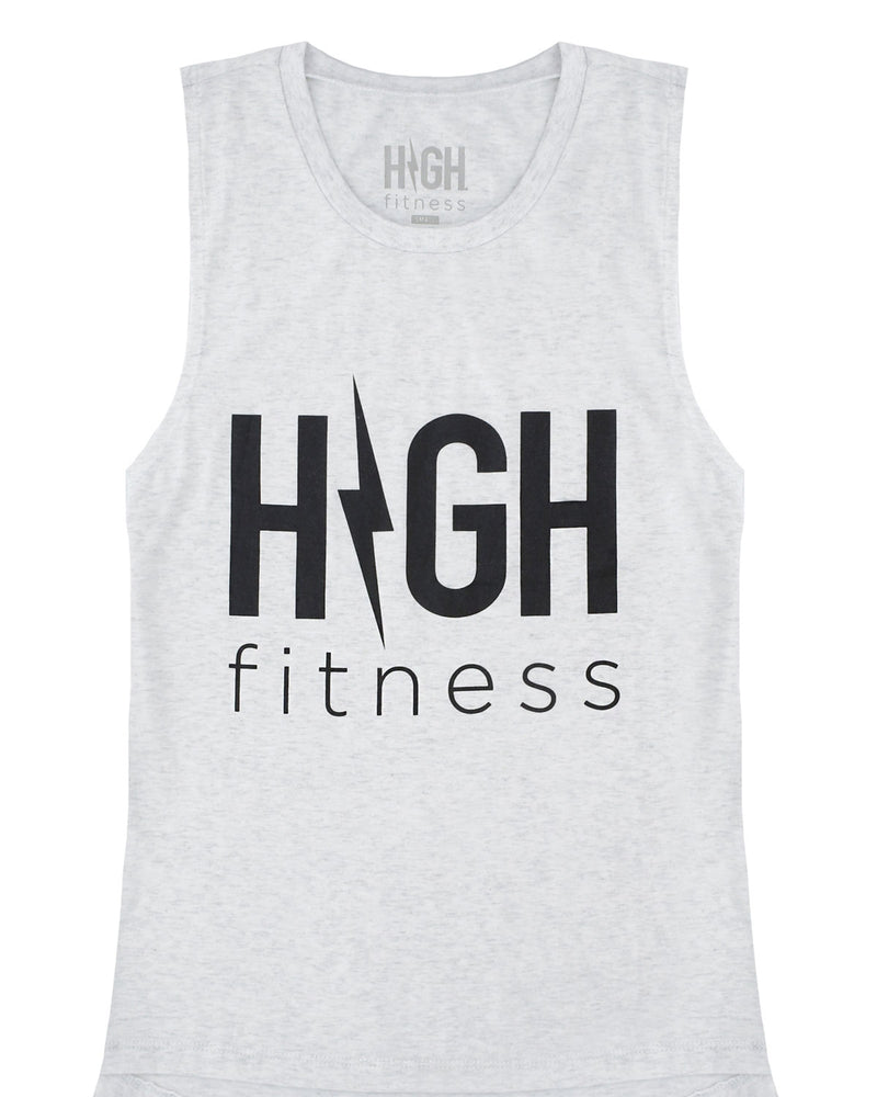 Summer Jams Muscle Tank | Heather White