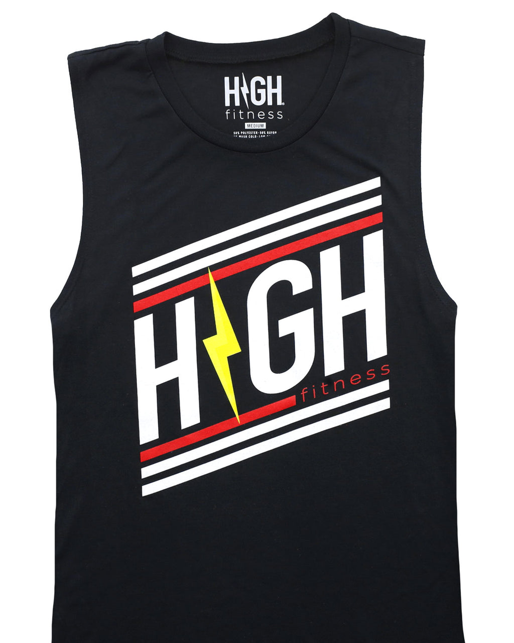 Striped Logo Muscle tank